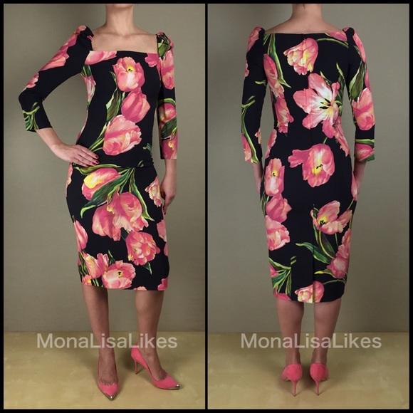 Dolce & Gabbana Dresses & Skirts - New DOLCE & GABBANA Tulip Black Pencil midi dress